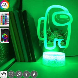 RGB LED Night Light among us 3D Game Illusion Lamp Table Home Party Holiday Atmosphere Decor Bedside Nightlight Hotel Room