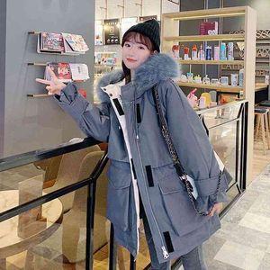 2021 fashion winter women clothes puffer jacket female bubble coats winter padded coats cotton fur hood thick warm