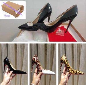2021 Так что Kate Styles 8 см 10 см 12 см высокие каблуки Обувь красный нижний нижний цвет Натуральная кожаная кожаная точка насосы насосы резина