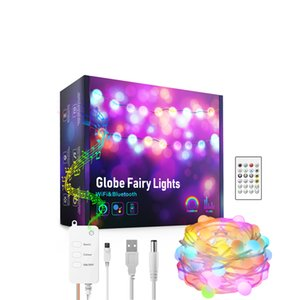 Smart Fairy Lights 32.8FT String Light RGB Color Changing with Remote App Control, Sync to Music, Timer Christmas Decoration Compatible Alexa Google Home IP65