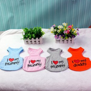 Pet Love Mommy Vest Dog Apparel Puppy Summer Loves Apparels Teddy Dogs Like MY Dad Mom Clothing WY1265