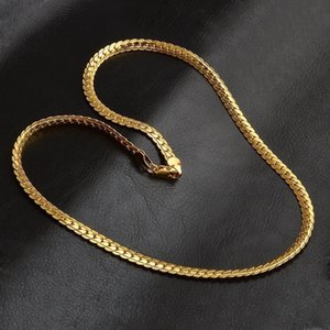 5mm fashion Luxury mens womens Jewelry 18k gold plated chain necklace Hip Hop Miami chains Designer Necklaces gifts Accessories 430 Q2