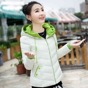 Women Winter Jacket Parkas Wearing Solid Coats With Short Female Hooded Women's Fine Cotton Clothes Basic Top Quality D278