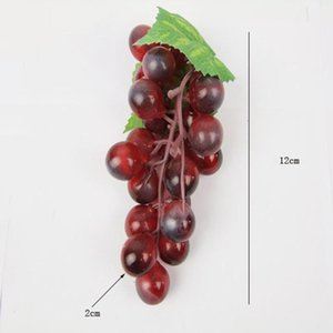3pcs Artificial Fruit Grape Lifelike Fake Fruits Plant Home Party Decor For Any Home, El, Shop, Office Decorative Flowers & Wreaths