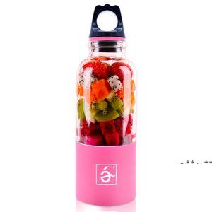 500ml Portable Blender Juicer Cup Mini USB Rechargeable Juicer Blender Maker Shaker Squeezers Fruit Orange Juice Extractor FWE9781