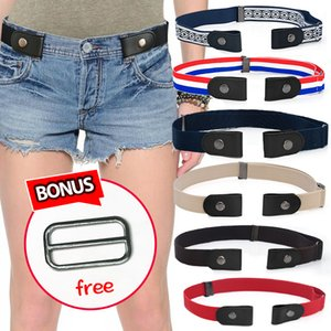 Easy Belt No Buckle Mens Jeans Belts For Women Waist Elastic Ceinture Femme Stretch Cinturones Para Mujer Invisible Riem kids