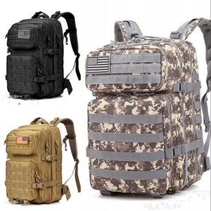 Military Tactical Waterproof Army Backpack Men Male 3P Assault Attack Bag 45L Large Outdoor Travel Back Pack Mountaineering Bags 577 X2