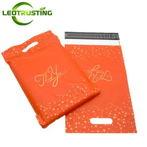 Standard Orange Yellow White Pink Thank You Portable Poly Mailer Adhesive Envelopes Courier Shoes Gifts Boxes Clothes Pouches Gift Wrap