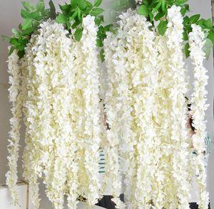 1.6 Meter Artificial Silk Flowers Wisteria Vine Rattan Wedding Backdrop Decorations Party Supplies