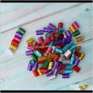 Sprays 100X Hair Cuffs Aluminum Dreadlock Beads For Diy Hairstyle Braids Ponytail Y1Huk Cj71Z