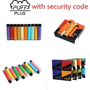 Cigarrillos electrónicos desechables Puffbar Barra de soplo más 800+ POD Cartucho 550mAh Múltiples 80 colores Batería 3.2ml Vapas de vapas rellenas pre-llantas Vaporizador portátil vs Bang XXL