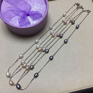 Outer Mao OEM Goods Stall Tourist Souvenir Starry Sky Freshwater Pearl Real Pearl Necklace Factory Wholesale