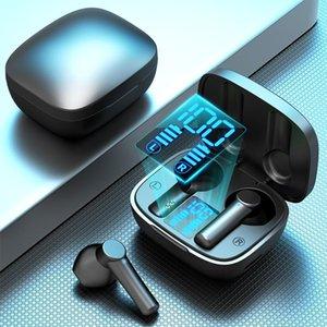 Headphones & Earphones TWS Wireless Bluetooth-Compatible Sports Waterproof LED Dispolay Noise Cancelling Earphone Gamer Headphone