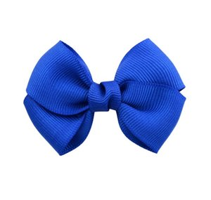 2.7 Inch Mix Colors Safety Solid Bowknot Ribbon Bow Hairclip Sweet Bow Tie Hair Clips Headware Kids Hairpins