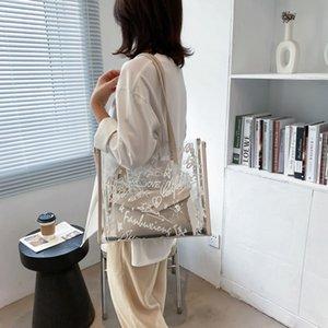 Yaz 2021 için yeni şeffaf çanta moda ve basit büyük kapasiteli serin bir omuz mxfz0527