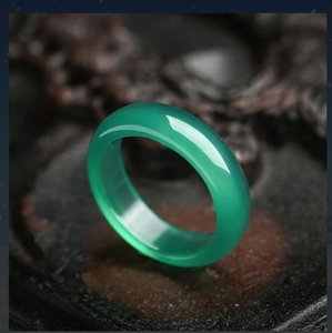 New Style chalcedony Black Blue White Yellow red green Four colour Jade Ring for men and women Couples Ring free ship ping F971
