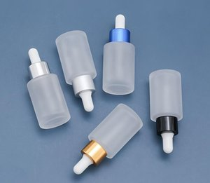 30Ml Small Empty Frosted Glass Dropper Bottles Refillable Bottle With Metal Screw Mouth For Essential Oil liquid SN5330