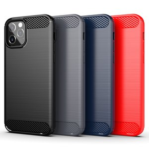 Carbon Fiber Cases For iPhone 11 12 Pro Mini X Xr Xs Max 6 6S 7 8 Plus Phone Cover Samsung S21 S20 Ultra S10 S9 S8 Note 20 10 9