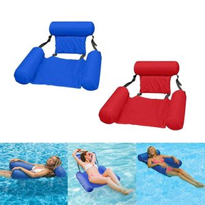 1pcs Foldable Floating Bed Chair Inflatable Backrest Amusement Dual Purpose Sofa Row S8B0829 Floats & Tubes