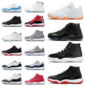 Nike Air Jordan Retro 11 25th AJ Jordans مع مربع أصيلة رجل إمرأة إمرأة 11 الرياضةالأحذية الرياضية الحمضيات منخفضة كونكورد عالية brd gamma الأزرق مربى قبعة و ثوب أحذية في الطلق
