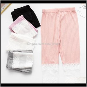 Tights Clothing Baby, Kids & Maternity Drop Delivery 2021 Lace Cotton Toddler Girls Leggings Flowers Girl Pants Stretchy Children Trousers Su