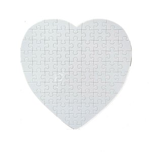 Blank Dye Sublimation Puzzle Heart Shaped DIY Heat Transfer Puzzles Customized Party Gifts Paper Jigsaw for Adult Child 365 S2 1KQQ LBO1