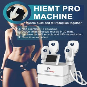 Protable air cooling system Non-invasive 4 Handles Hiemt Pro slimming Machine Electromagnetic body Sculpting EMS Muscle Stimulator for Fat Burning Butt Lift