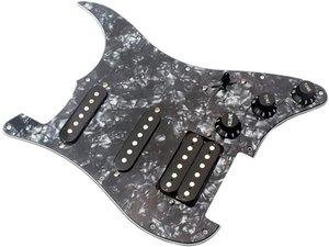 Electric Guitar Black Pearlammoon 3-ply SSH Loaded Prewired Humbucker Pickguard Pickups Set for
