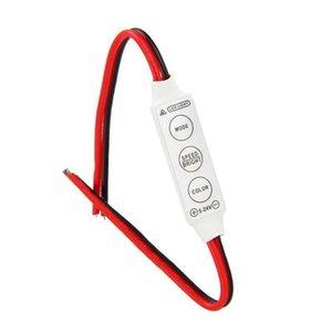 3 Keys Controller DC 12V Mini LED Strips RGB Single Color For SMD 3528 5050 5730 5630 3014 Strip Lights