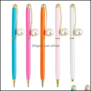 Ballpoint Supplies Business & Industrialballpoint Pens 0.7Mm Imitation Pearl Metal Pen Signature Writing School Office L41E1 Drop Delivery 2
