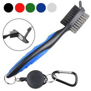 Golf Double-sided Brush Club Golf Supplies Club Cleaning Tool Nylon Steel