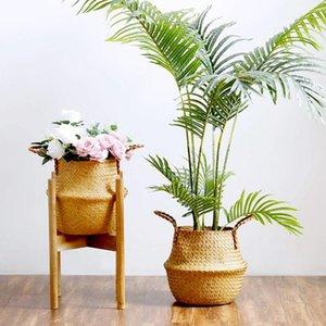 스토리지 바구니 바구니 바구니 등나무 매달려 꽃 냄비 더러운 세탁 햄퍼 거실 침실 수제 대나무