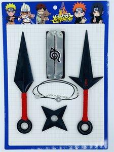 Anime Factory Direct Sale Naruto Shuriken Big Kunai 4th Generation Five-piece Suit Flying Thunder God Sasuke Plastic Animation