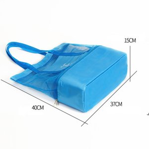 Waterproof Dry Wet Depart Storage Bags Swimming Beach Bag Outdoor Lunch Bags Double Deck Thermal Insulated Lunch Box Tote AHD6089