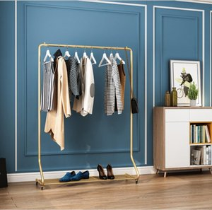 Light luxury clothes hanger Commercial Furniture belt pulley indoor cloth hangers clothing store bedroom simple storage rack