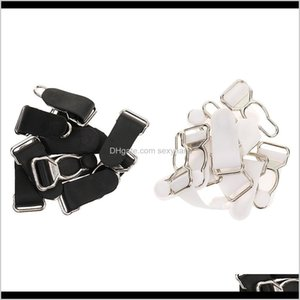 Sewing Notions Tools Apparel Drop Delivery 2021 Pack Of 20 Suspender Garter End Clips Lingerie Corset Girdles Grips Black White 3Zdei
