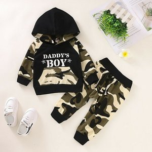 Baby Clothes Sets Newborn Infant Baby Boy Letter Hoodie T Shirt Tops+ Camouflage Pants Outfits Set Christams Gifts 2021Toy