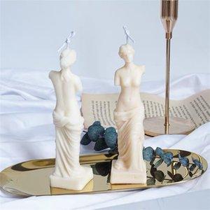 Sanat Vücut Mum Kalıp Kadın Mum Silikon Kalıp Koku İnsan Şekilli Tanrıça Mum Yapma Balmumu Alçı Kalıp El Yapımı 1416 V2