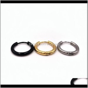 Hoop & Hie Drop Delivery 2021 European American Fashion Titanium Steel Minimalist Punk Jewelry Round Earrings For Women And Men Gifts Nyric