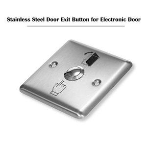 Bouton de sortie de porte en acier inoxydable Serrure électronique NO COM Push Push Release Switch Switch Capteur Magnetic Accès Control