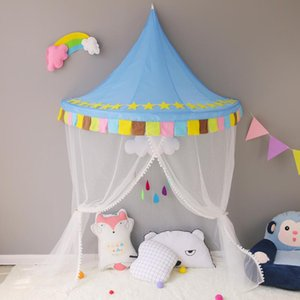 Cute Baby Crib Netting Mosquito Net Canopy Dome Bed For Nursery Children Girls Room