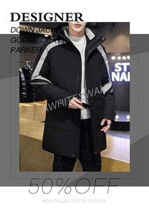 Branded Men Down Jacket Letter Appliques Designer Male Winter Warm Double Zipper Outwear Fashion Down Coat