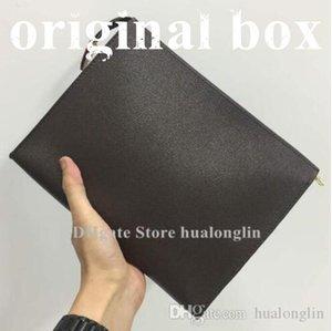 Woman Bags Cosmetic cases women handbags original box purse fashion flower checkers Toilet pouch