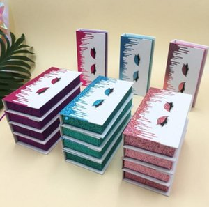Wholesale magnetic eye lash box selling package for 8mm-30mm full strip eyelashes 3d 5d 6d 100% real mink lashes