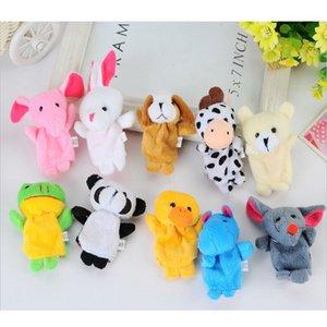 Hayvan Parmak Kukla Bebek Çocuk Peluş Oyuncaklar Karikatür Çocuk Bebek Favor Kuklaları Yatmadan Hikayeleri Çocuklar için Noel Hediyesi 1047 V2