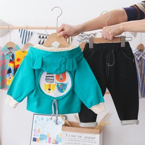 Clothing Sets Spring Boy Casual Jacket Costume Clothes Suit 2021 Cotton Toddler Boys Kid Coat + T Shirt Pants 1 2 3 4 Years