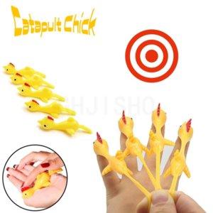 Novelty Catapulted Ejection Chicken Toy Light Rubber Finger Prank Flying Toy Slingshot Chicken Finger Toys Decompression Toys
