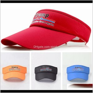 Event Festive Supplies Home Garden Drop Delivery 2021 Donald Empty Top Keep America Great Baseball Visors Outdoor Sport Travel Cap Trump Suns