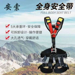 Safety rope full-body high-altitude operation outdoor rock climbing downhill detachable half body safety belt