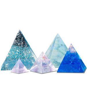 5Pcs Pyramid Silicone Molds Resin Casting Cone Epoxy Orgone Jewelry Making Tools Craft